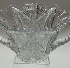 Buy American Brilliant Period hand Cut Glass ice bucket ABP antique