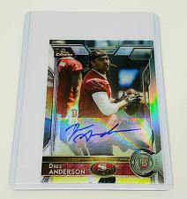 Buy NFL DREAS ANDERSON 49ERS AUTOGRAPHED 2015 TOPPS CHROME ROOKIE REFRACTOR MNT