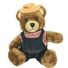 Buy Vintage Del Monte Brawny Teddy Bear Plush Overalls Hat Stuffed Animal 1985 10.5""