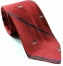 Buy PGA Of America Golf Blue Red Striped Necktie 100% Silk