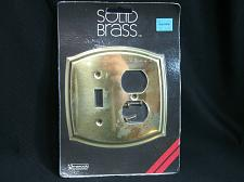 Buy Vintage NOS SOLID Brass Switch / Outlet Combo Wall Cover Amerock New Old Stock