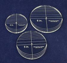 "Buy 3 Piece Circle Set - No Seam 4"",5"",6"" 3/8"" Thick - Long Arm -Multi Use"