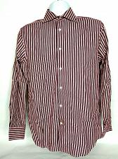 Buy Express Men's Classic Fit Button Up Shirt Small Red White Striped Two Ply