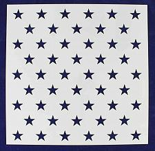 "Buy 50 Star Field Stencil 14 Mil -15 3/8""H x 15 7/16""W - Painting /Crafts/ Template"