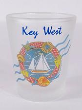 """Buy Key West Florida Sailboat Seashells 2.25"""" Frosted Collectible Shot Glass"""