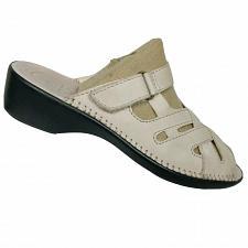 Buy Easy Spirit Womens Cream Leather Comfort Contour Mule Sandals Shoes Size 6.5 M