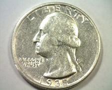 Buy 1935 WASHINGTON QUARTER ABOUT UNCIRCULATED AU NICE ORIGINAL COIN BOBS COINS
