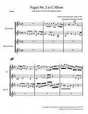 Buy Bach - Fugue No. 2 in C Minor (WTC Book 2) for Clarinet Quartet