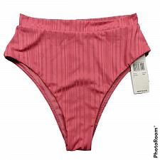 Buy NWT Raisins Womens Beach Cove High Waist Bikini Swimsuit Bottom Small Pink