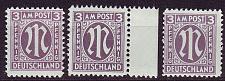 Buy GERMANY Alliiert AmBri [1945] MiNr 0017 a A,C,D ( **/mnh )