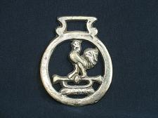Buy Vintage Rooster Trumpet Bugle Medallion Harness Horse Brass Ornament England