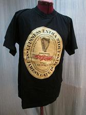 Buy Official Guinness Extra Stout St James Gate T-shirt Size SMALL Black