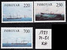 Buy DÄNEMARK DANMARK [Färöer] MiNr 0079-81 ( **/mnh ) Schiffe
