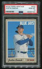Buy 2019 TOPPS HERITAGE SHORT PRINT JUSTIN SMOAK #433 PSA 10 GEM MINT (7191)