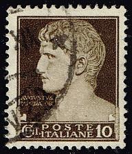 Buy Italy #215 Augustus Caesar; Used (3Stars) |ITA0215-10