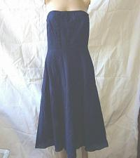Buy J. Crew cotton strapless Style 81972 Blue navy size 6 Worn once