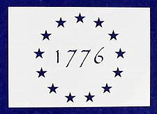 Buy 1776 13 Star Stencil-5.25 x 7.41 G-Spec Painting/Crafts/ Templates