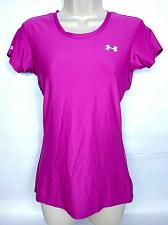 Buy Under Armour Women's Active Wear Athletic T-Shirt Small Solid Pink Fitted