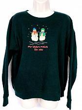 Buy Hanes Women's Christmas Sweat Shirt XL Snowman My Heart Melts For You