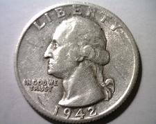 Buy 1942-S WASHINGTON QUARTER EXTRA FINE / ABOUT UNCIRCULATED XF/AU NICE COIN EF/AU