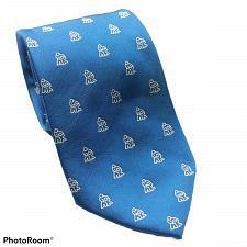 Buy Tie Creators Stick People Print Blue White Novelty Necktie