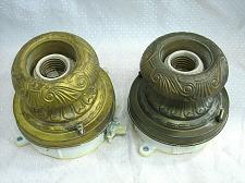 Buy PAIR of Brass Antique Ceiling Light Fixtures Art Deco
