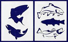 """Buy Trout Fish Stencils 8"""" X 10"""" Mylar 2 Pieces of 14 Mil -"""
