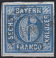 Buy GERMANY Bayern Bavaria [1862] MiNr 0010 a ( O/used ) [04]