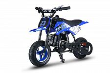 Buy Youth Kids Dirt Bike Blue Gas Powered Motor 51 CC 2 Stroke Off Road Ride On New