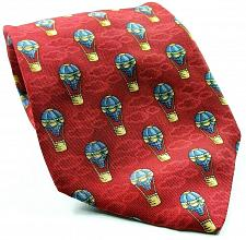 Buy Hot Air Balloon Clouds Flying Red Blue Novelty Silk Tie