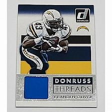 Buy NFL BRANDEN OLIVER CHARGERS 2015 PANINI THREADS GAME-WORN JERSEY RELIC MINT