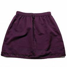Buy J Crew A Line Skirt Pleated Size 4 Purple Lined Elastic Waist Pull On Laser Cut