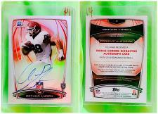 Buy NFL Arthur Lynch Autographed 2014 Bowman Chrome Rookie Refractor #22 Mint