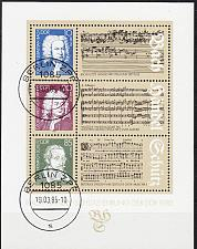 Buy GERMANY DDR [1985] MiNr 2931-33 Block 81 ( O/used ) Musik