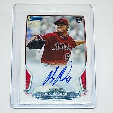 Buy MLB NICK MIRANDE ANGELS AUTOGRAPHED 2013 BOWMAN CHROME ROOKIE MINT