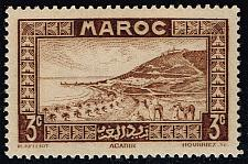 Buy French Morocco #126 Roadstead at Agadir; MNH (5Stars) |FRM126-01XRS