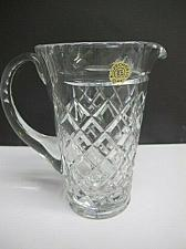 Buy Czechoslovakia cut glass pitcher hand cut