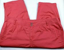 Buy Lane Bryant Women's Casual Capri Pants Size 26 Coral 4 Pockets