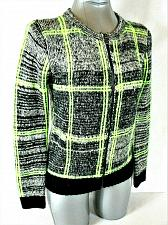 Buy FOREVER 21 womens Small L/S black gray green FULL ZIP CARDIGAN sweater (A9)P