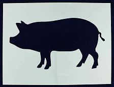 "Buy BBQ/Grilling/Hog -LG- Stencil 14 Mil 18"" X 24"" Painting /Crafts/ Templates"