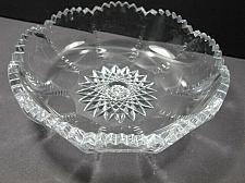 Buy American Brilliant Period Cut Glass dish FLUTED CUT Antique ABP