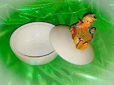 "Buy Vintage Hummel Goebel TMK-3 ""Let's Sing"" Candy Dish w/lid Accordion Boy & Bird"