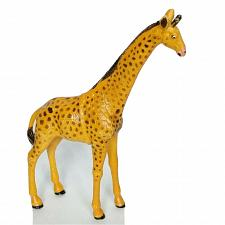 Buy Giraffe Brown Gold Figure Plastic Rubber Animal Figurine 9""