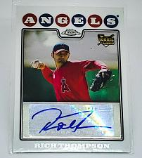 Buy MLB RICH THOMPSON ANAHEIM ANGELS AUTOGRAPHED 2008 TOPPS CHROME ROOKIE MINT