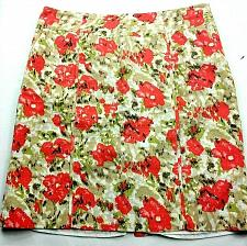 Buy CATO Womens A Line Skirt Size 16 Tan White Orange Floral Lined Side Zip