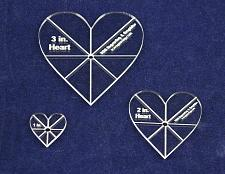 """Buy Heart Template 3 Piece Set. 1"""",2"""",3"""" - Clear 1/8"""" Thick w/ guidelines"""
