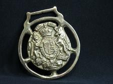Buy RARE United Kingdom Crest Horse Brass Harness DIEU ET MON DROIT
