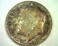 Buy 1964-D ROOSEVELT DIME CHOICE UNCIRCULATED SUPER ATTRACTIVE TONING / COLOR NICE