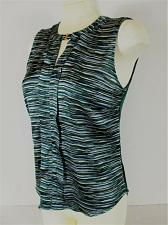Buy THE LIMITED womens Small sleeveless green blue black CLASP NECK stretch top (B7)