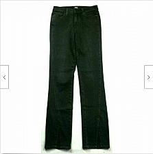 Buy Paige Womens Julia Straight Jeans Size 24 Solid Black Wash Split Front Cuff